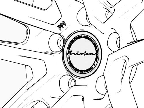 Two Piece Center Cap Detail