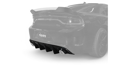 Vicrez V3R Rear Diffuser for Dodge Charger