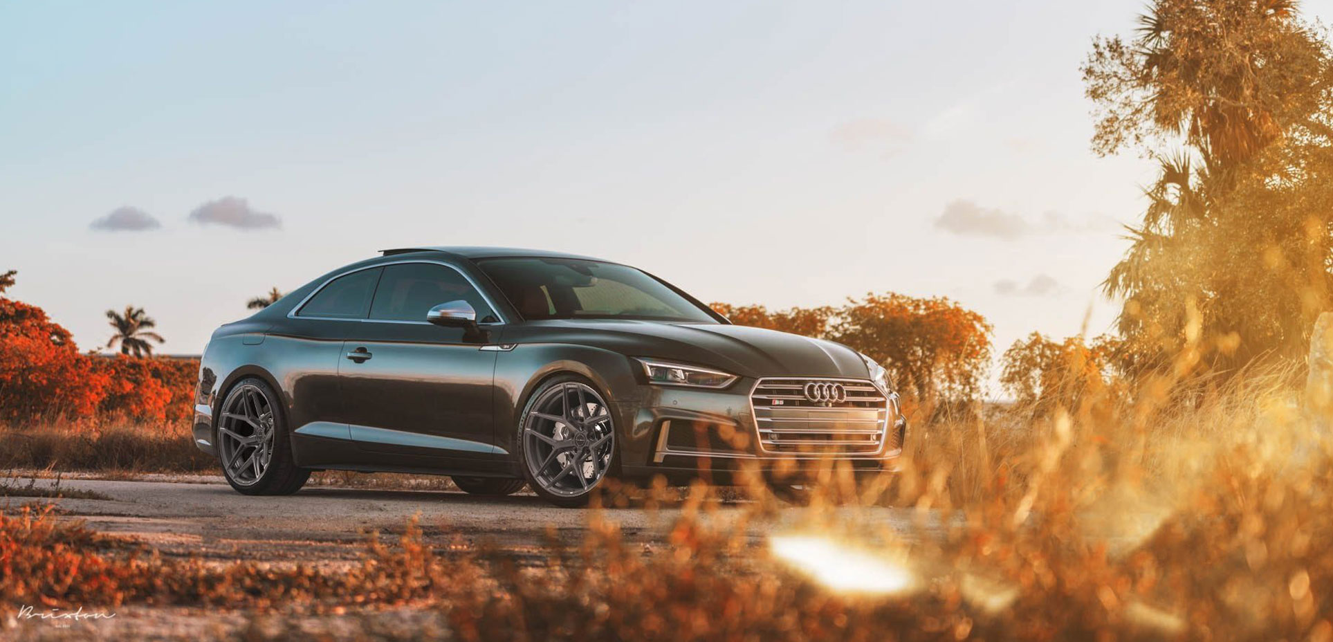 Audi S5 x Brixton Forged RF7 (Finished in Satin Black)