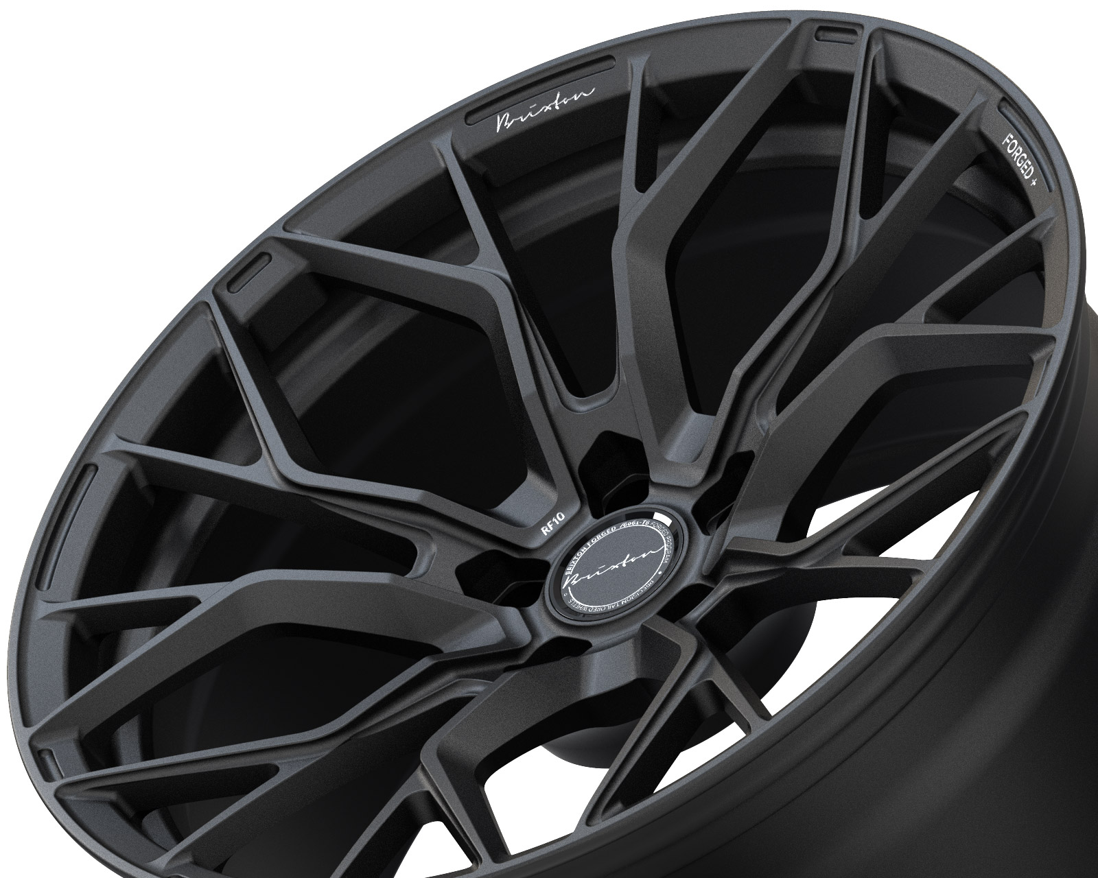 Brixton Forged RF10 Radial Forged Wheels Black Satin