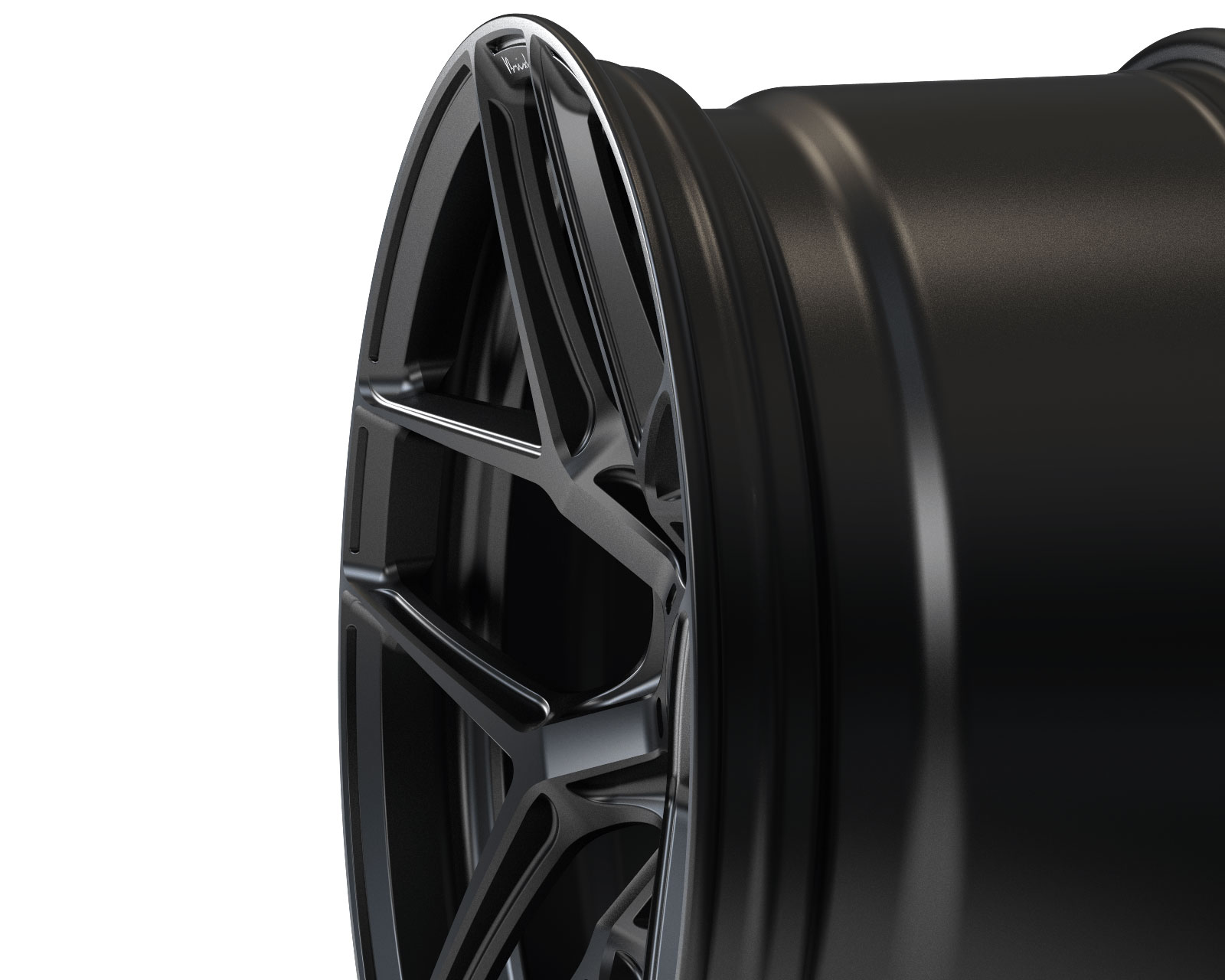 Brixton Forged RF7 Radial Forged Wheels Black Satin