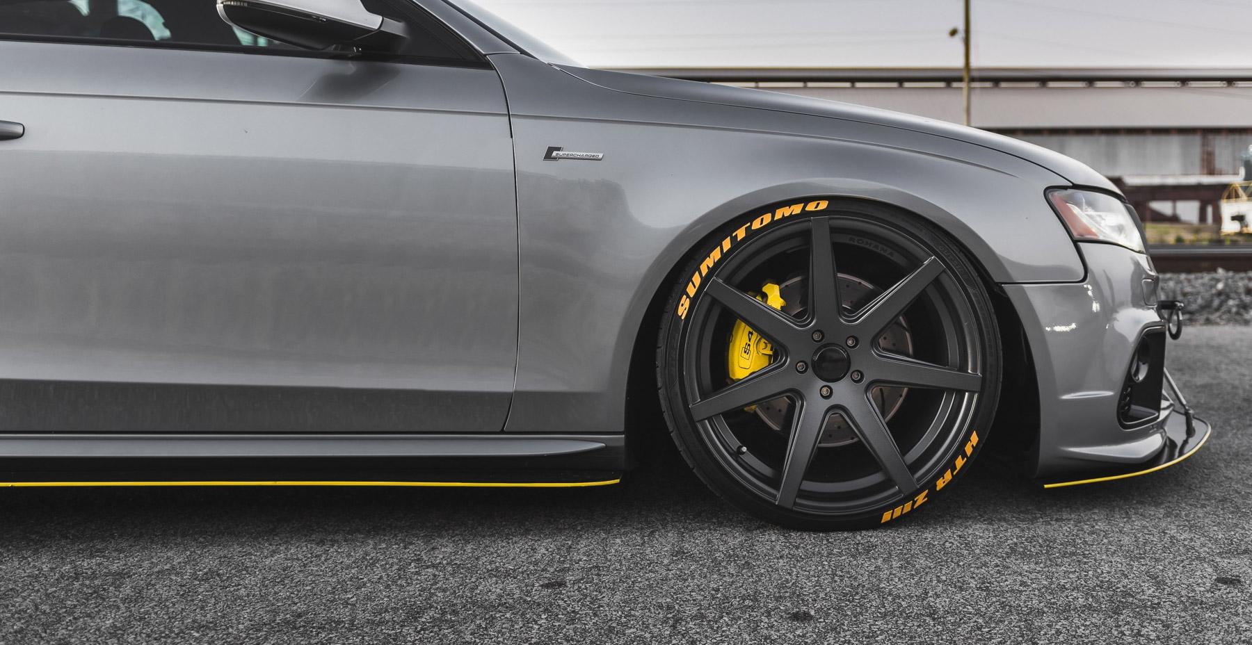 Grey Audi S4 x Rohana RC7 Wheels (Finished in Graphite Wheel)