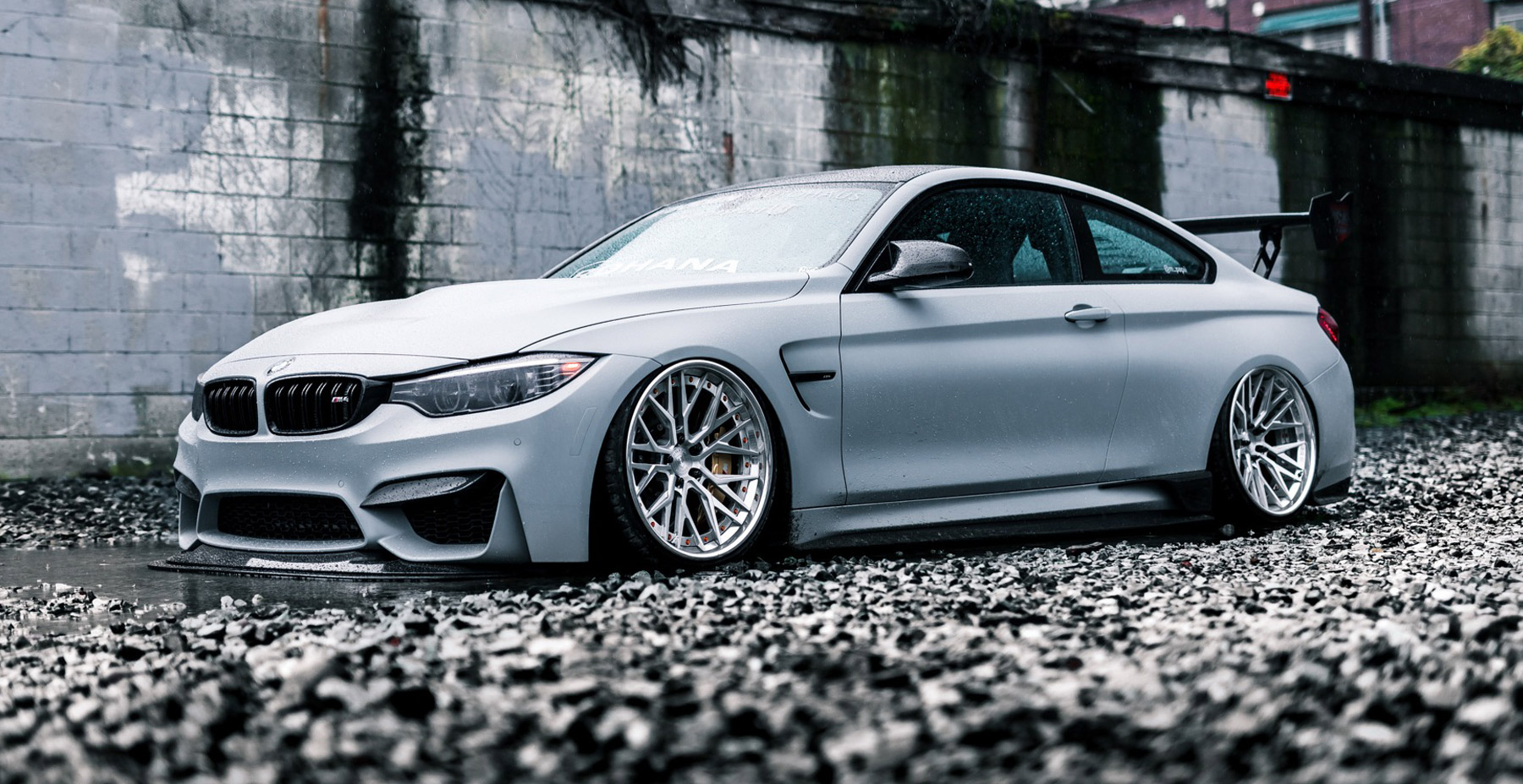 Grey BMW M4 x Rohana RFG3 Wheels