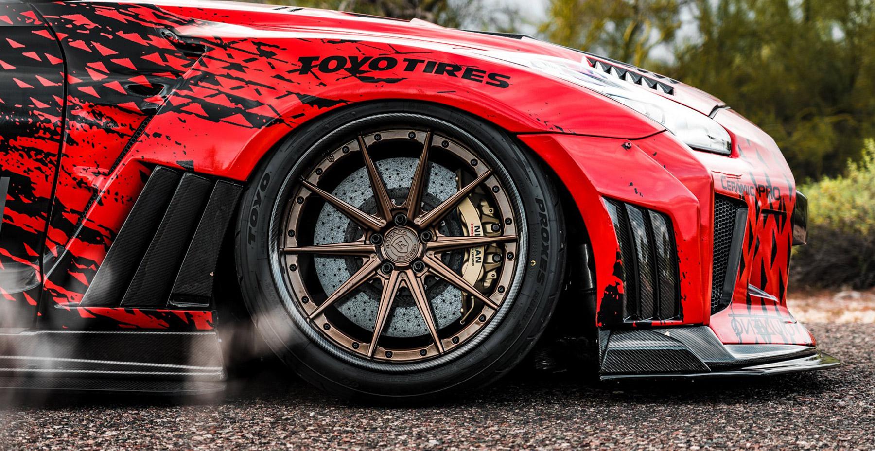 Nissan GTR R35 x Rohana Forged RFG10 (Finished in Matte Bronze | Carbon Fiber Lip)