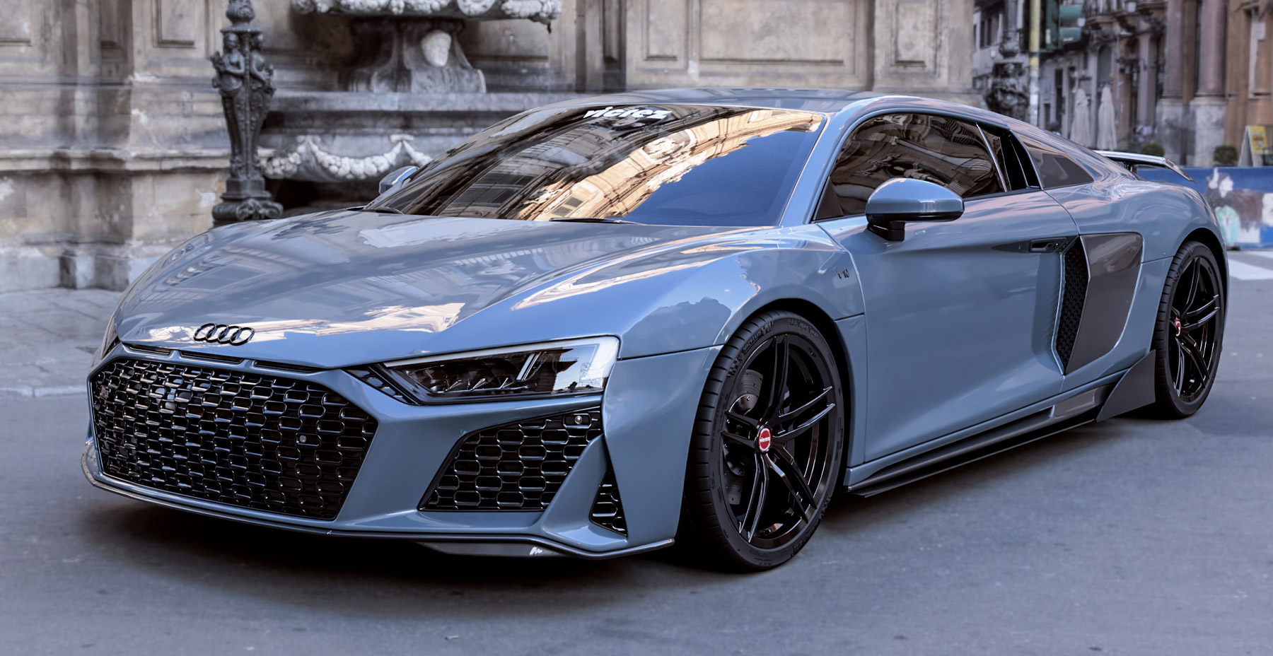 2020 Audi R8 Shadow Gray  x Vicrez VAF Forged Wheels (Finished in Gloss Black)