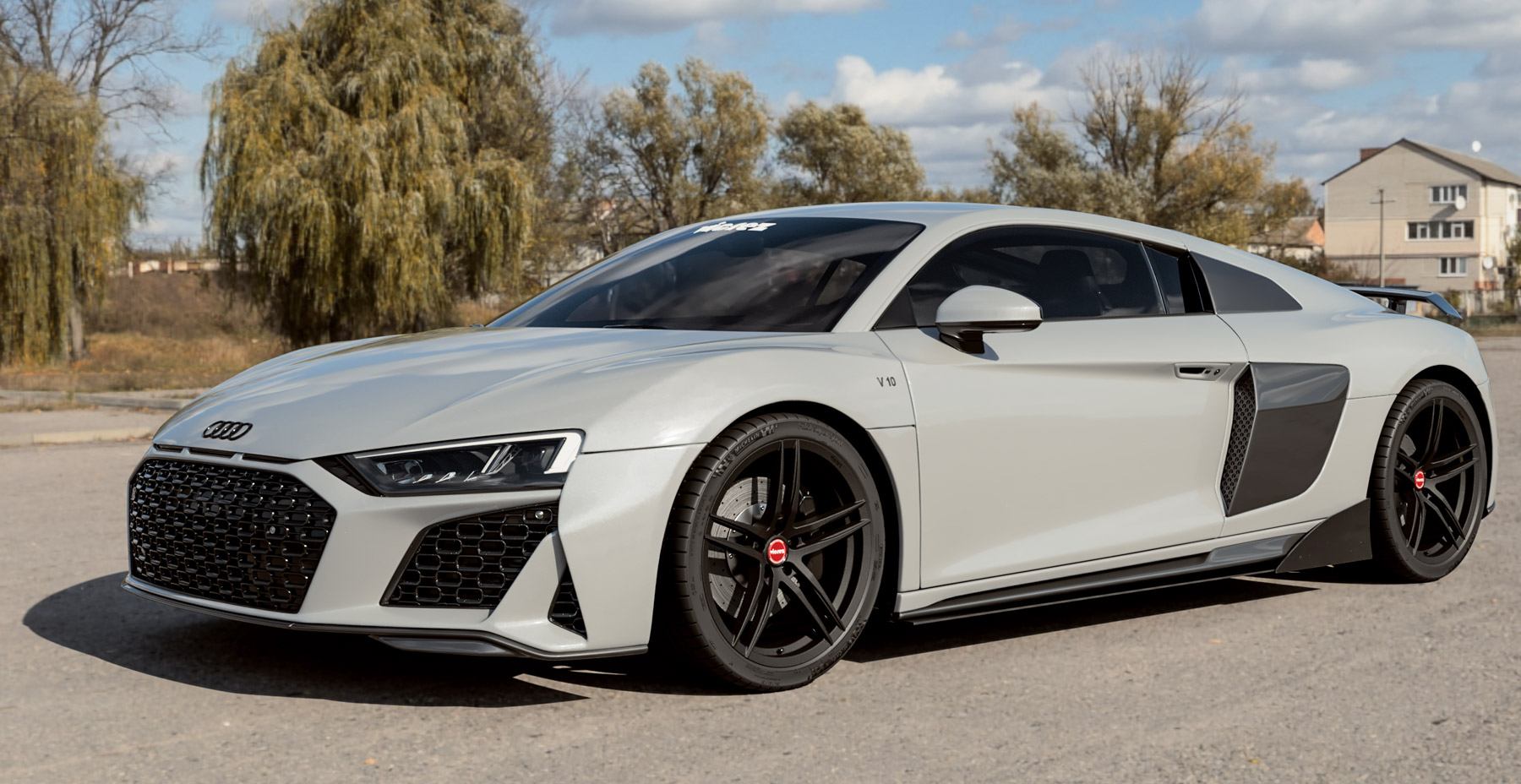 2020 Audi R8 Silver Metallic x Vicrez VAF Forged Wheels (Finished in Gloss Black)