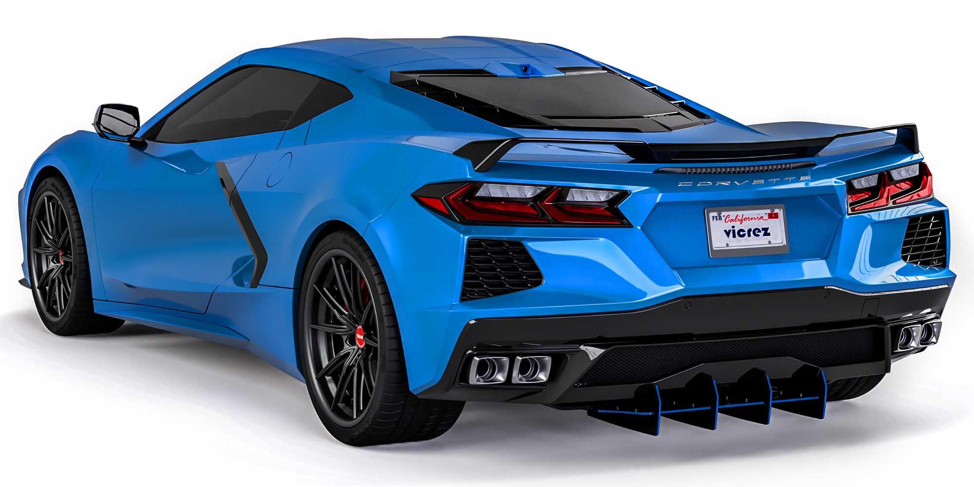 Vicrez 160LV Rear Diffuser vz102209 | Chevrolet Corvette C8 2020-2021