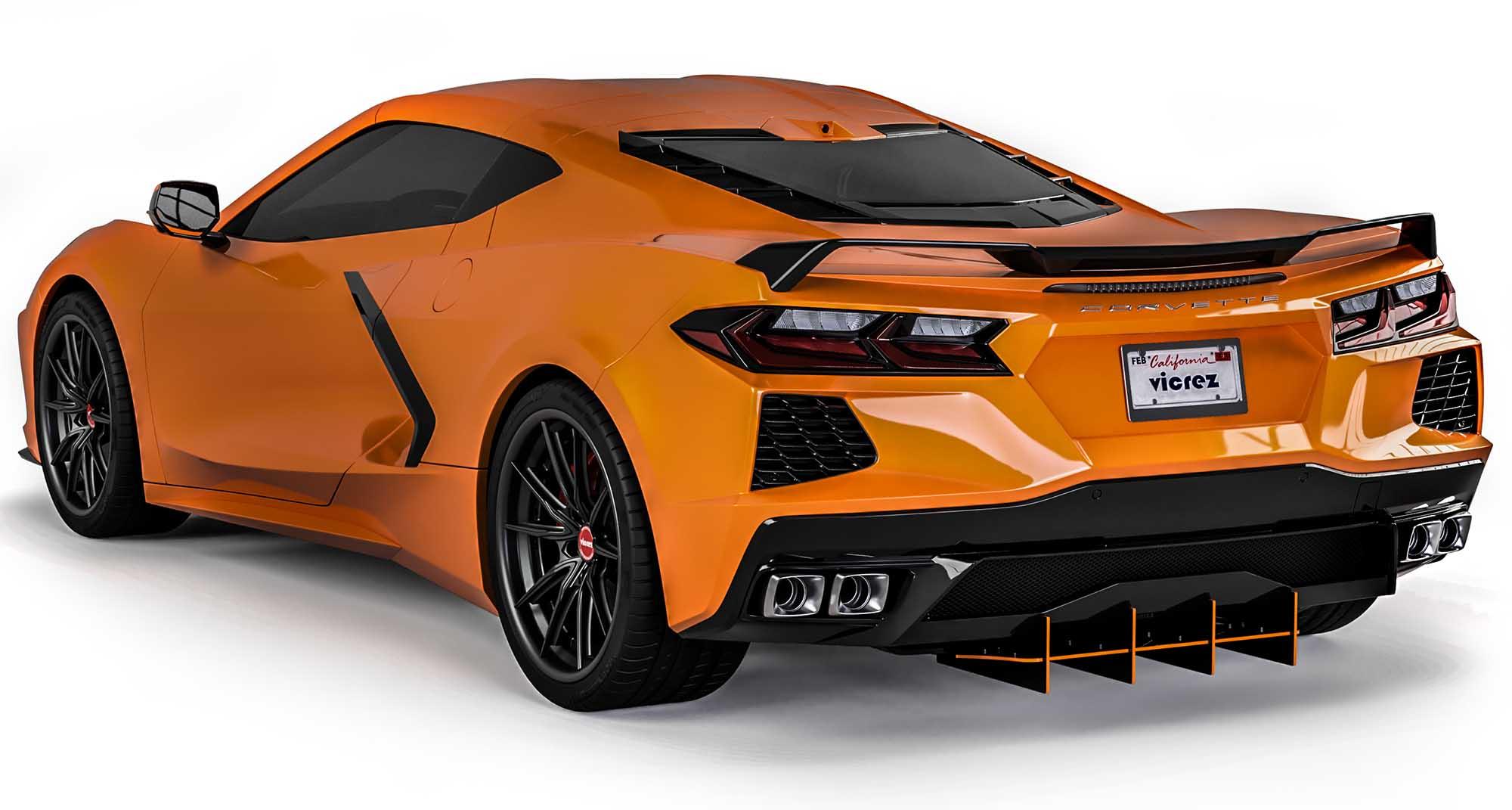 Vicrez 180R Rear Diffuser vz102213   Chevrolet Corvette C8 2020-2021
