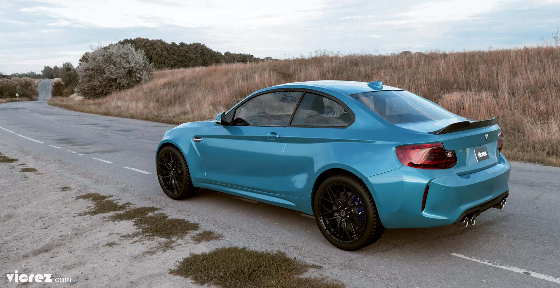 Vicrez BMW M2 F87 2016-2019 V3R Carbon Fiber Rear Wing Spoiler vz101026