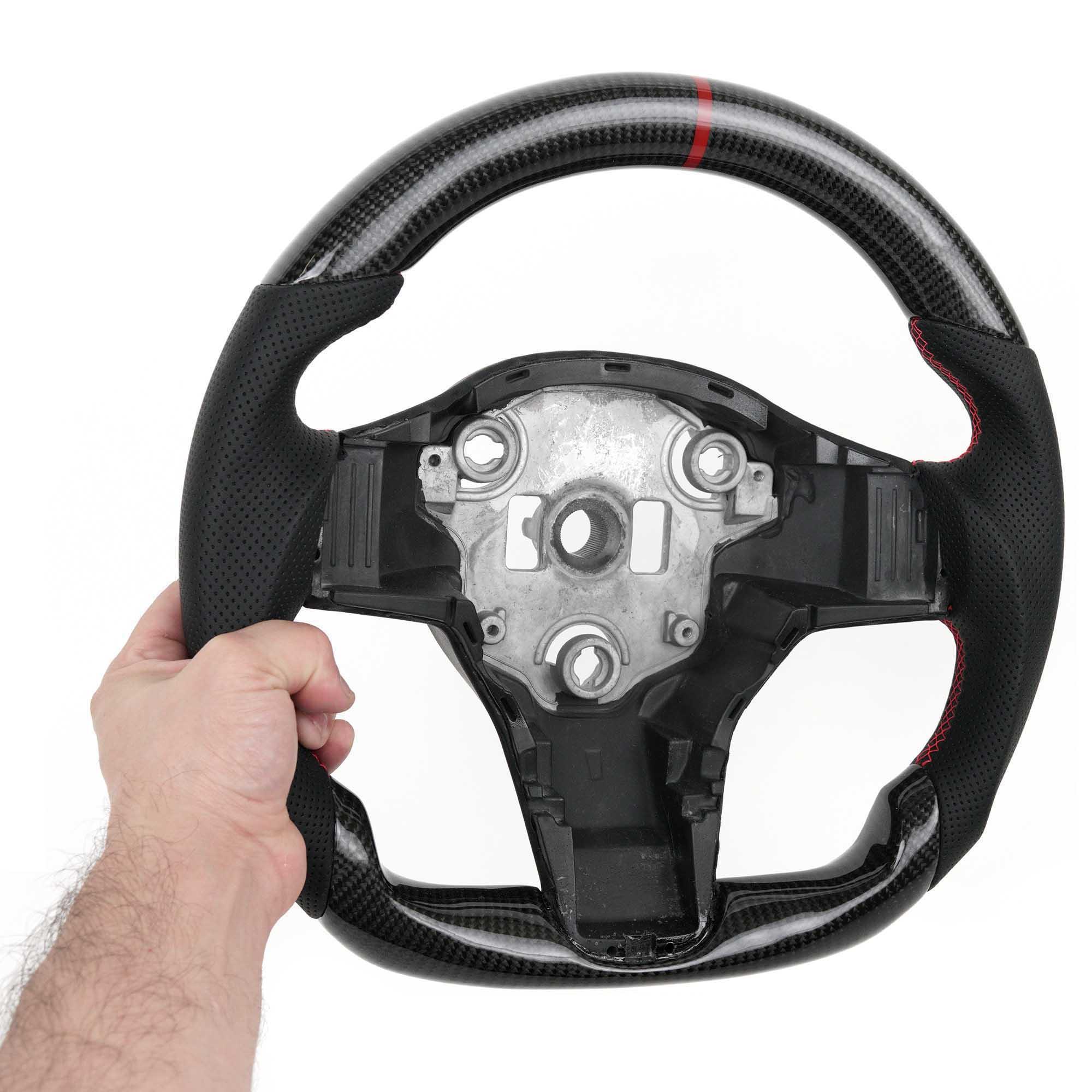 Vicrez Carbon Fiber OEM Steering Wheel vz102063| Tesla Model 3 | Model Y 2017-2020