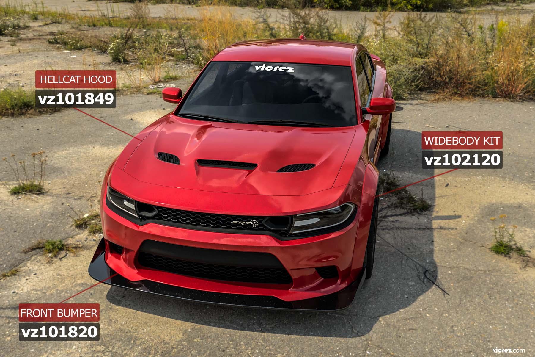 Vicrez Demon Wide Body Fender Flares Kit vz102120 | Dodge Charger 2015-2020