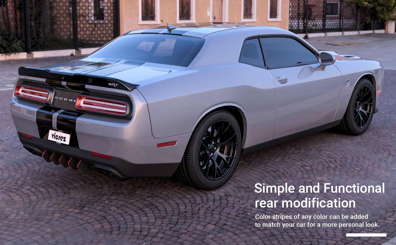 Vicrez Dodge Challenger SRT Hellcat 2015-2019 Rear Diffuser LV Style vz101061