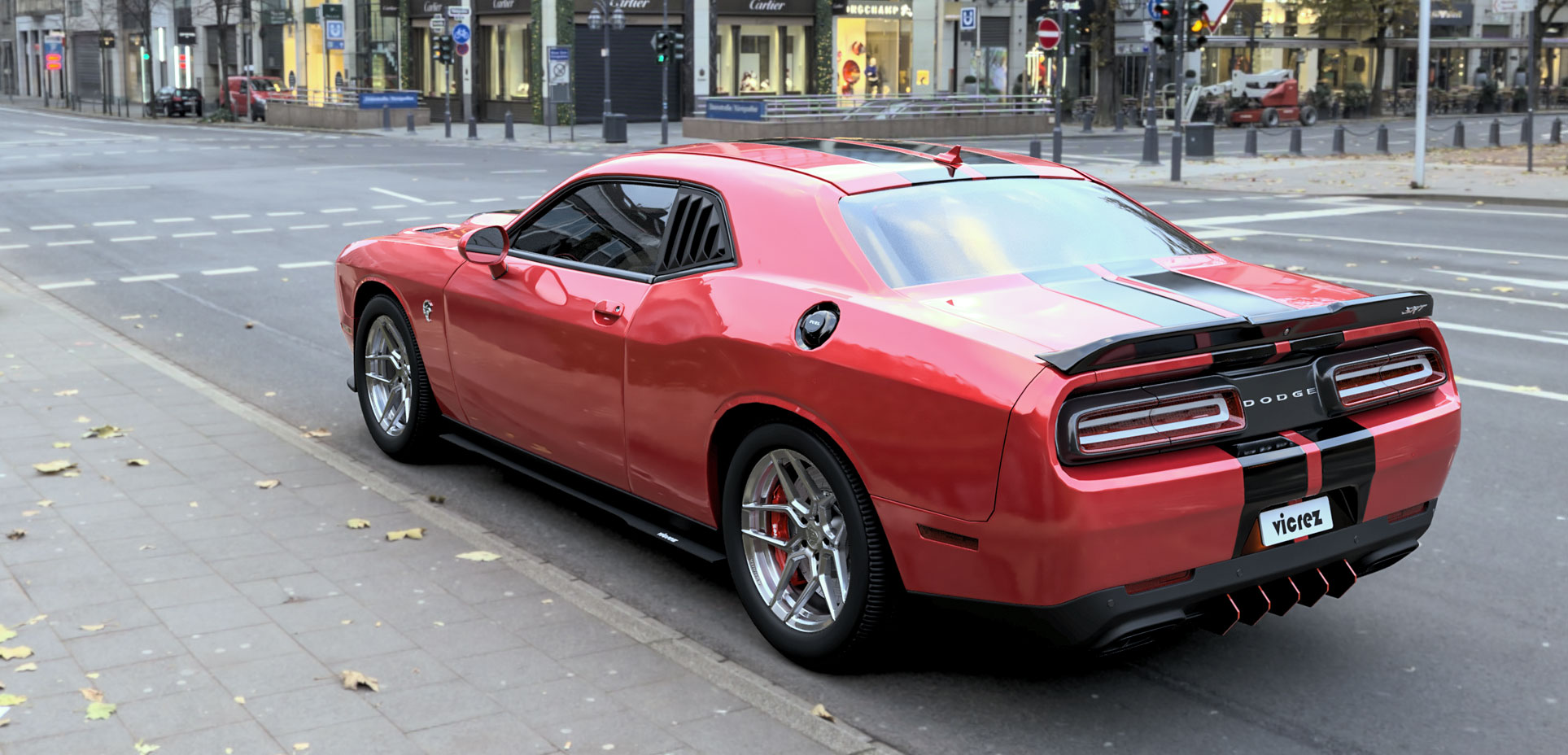 Dodge Challenger Hellcat Quater Window Louvers