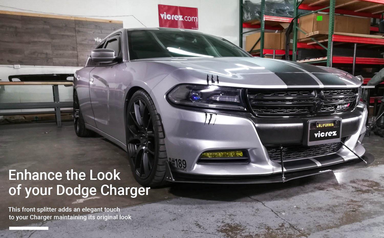 Vicrez Dodge Charger 2015-2018 VZ3 Style Front Bumper Splitter vz100691