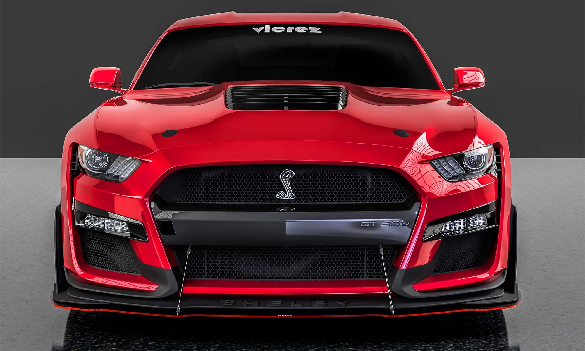 Vicrez Ford Mustang 2018 LV style Front Bumper Lip Splitter vz100957