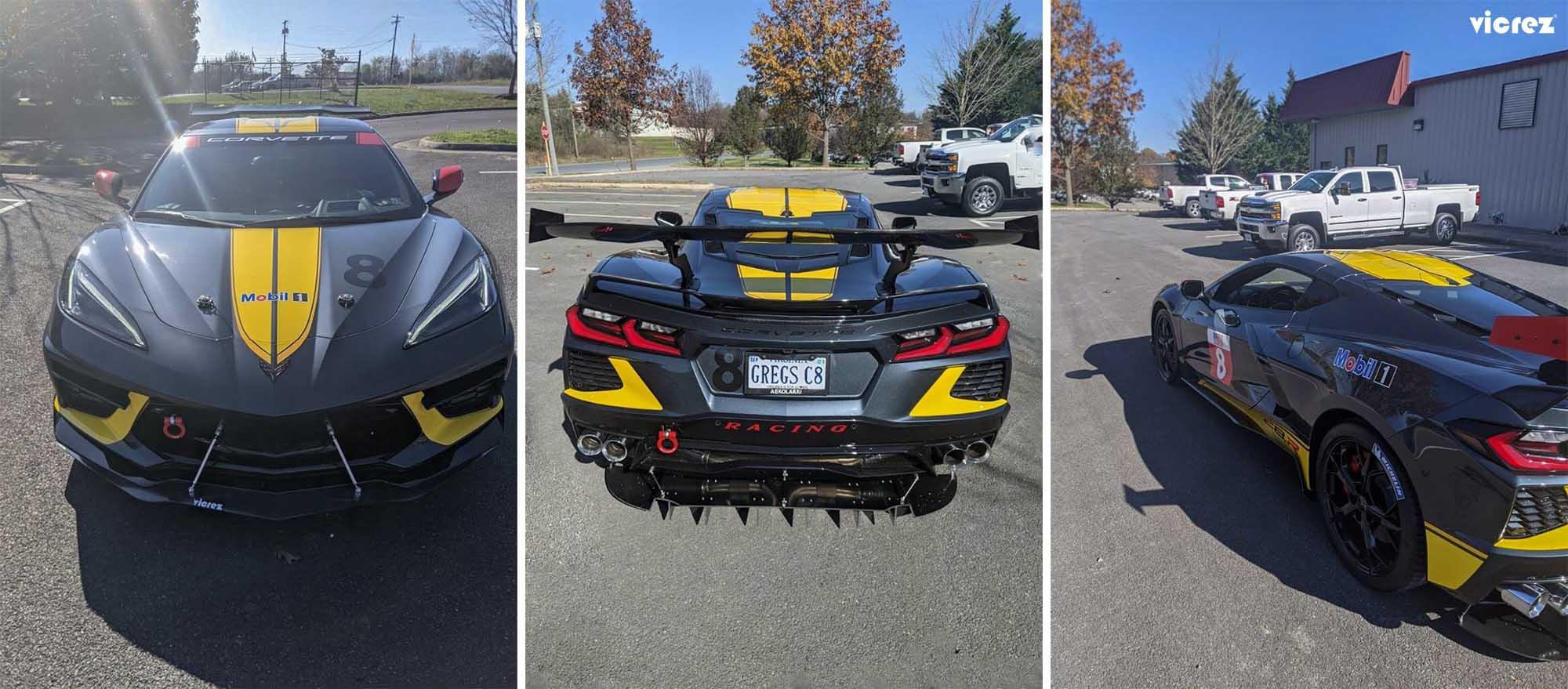 Vicrez R1 Rear Diffuser vz102106 | Chevrolet Corvette C8 2020-2021