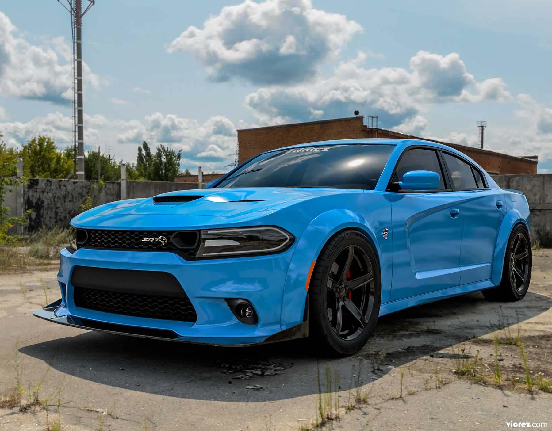 Vicrez SRT Hellcat Style Front Bumper vz101820 | Dodge Charger 2015-2020