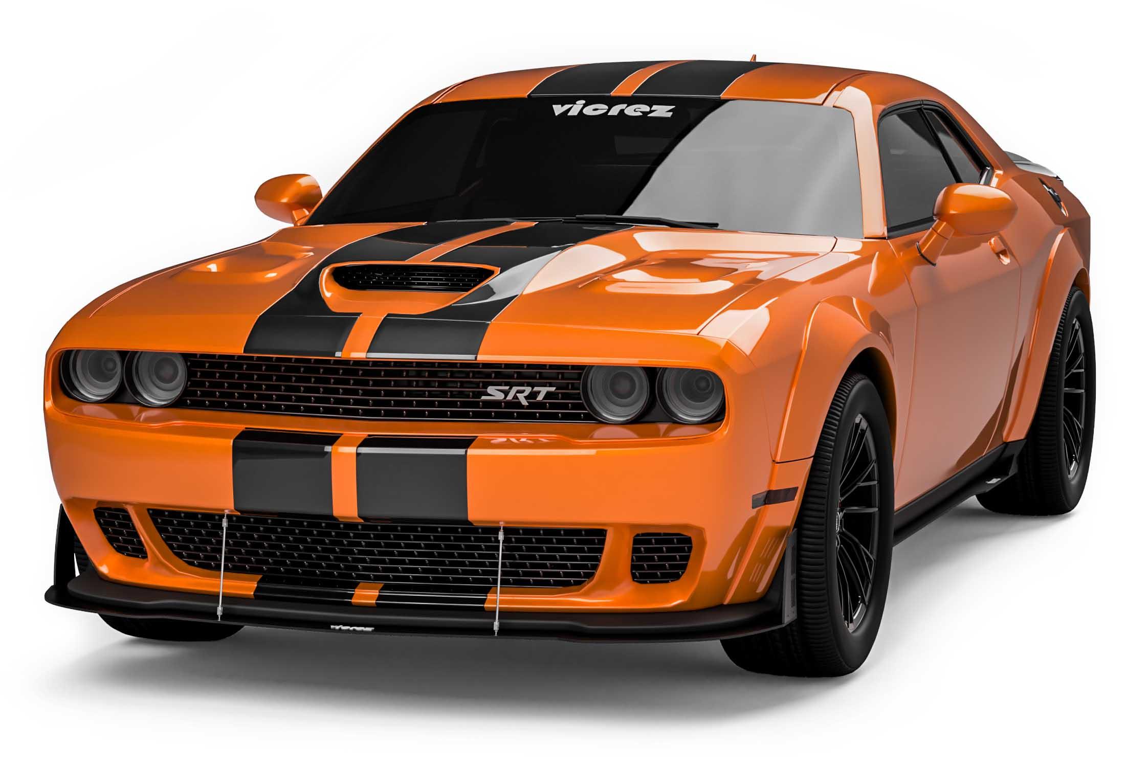 Vicrez Vzw Front Bumper Lip Splitter Vz101847 Dodge Challenger Widebody 2015 2020