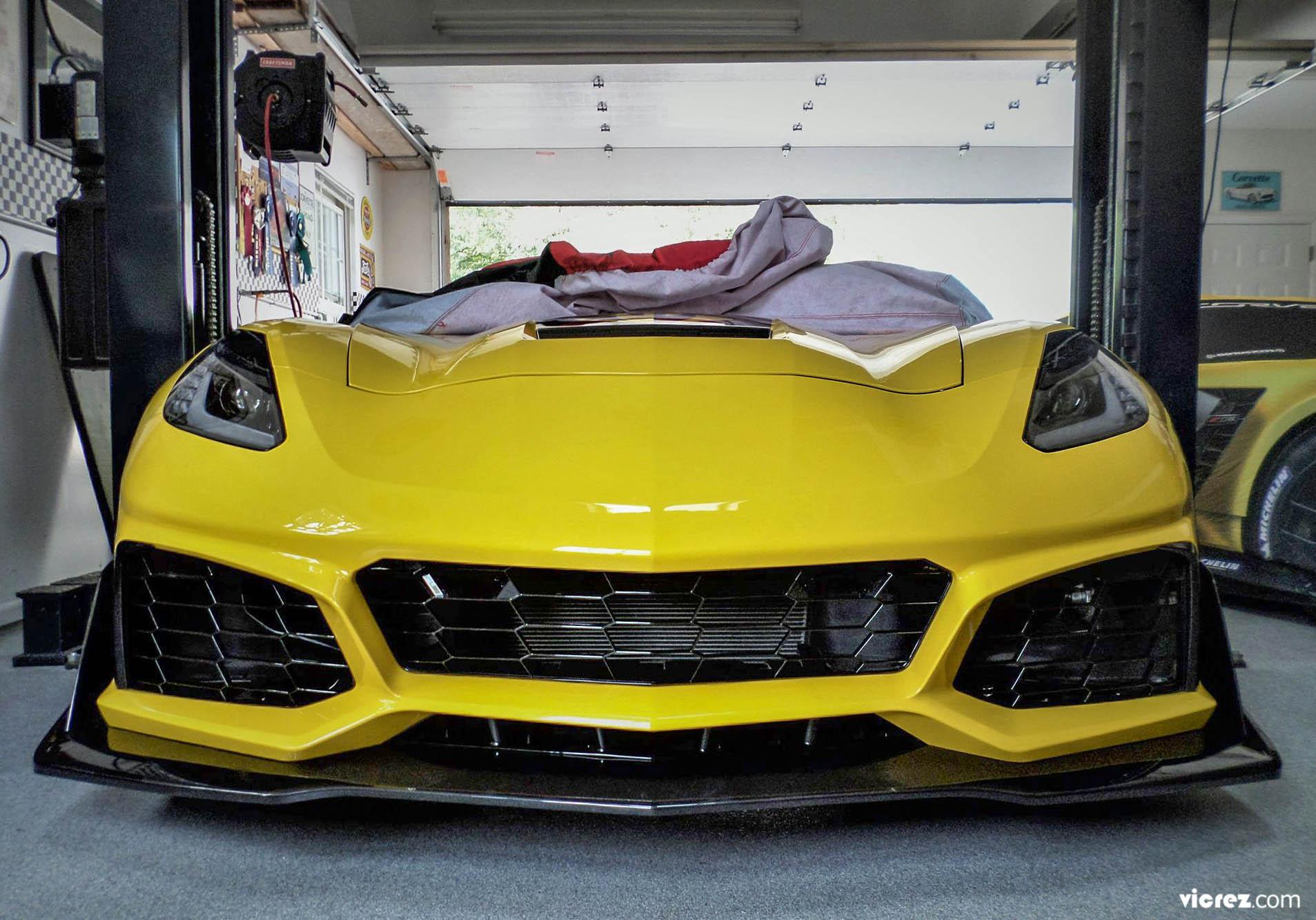 Vicrez VZR1 Polyurethane Front Bumper vz101478 | Chevrolet Corvette C7 2014-2019
