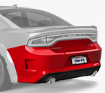 Vicrez SRT Hellcat Style Rear Bumper vz101821 | Dodge Charger 2015-2019