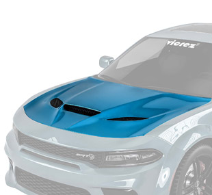 Vicrez Hellcat Style Hood W/ Air Vent Scoop vz101849   Dodge Charger 2015-2020