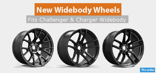 New Widebody Wheels for Dodge Charger and Challenger
