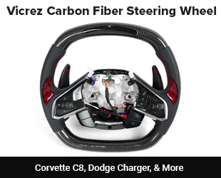 Vicrez Custom Carbon Fiber Steering Wheel
