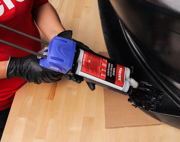 Vicrez vzr101 Auto Body Plastic Adhesive Bumper Repair Step 1 Fill